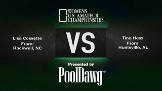 Semi-Finals - Lisa Cosette VS Tina Hess - 2018 Women