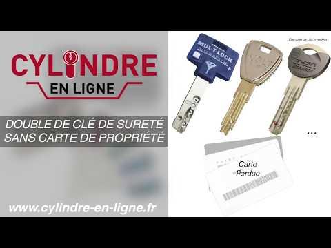 refaire clé sécurisée sans carte Commander une clé brevetée   Carte de propriété perdue