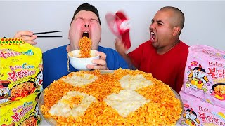 CHEESY NOODLES WITH ORLIN • Mukbang & Recipe