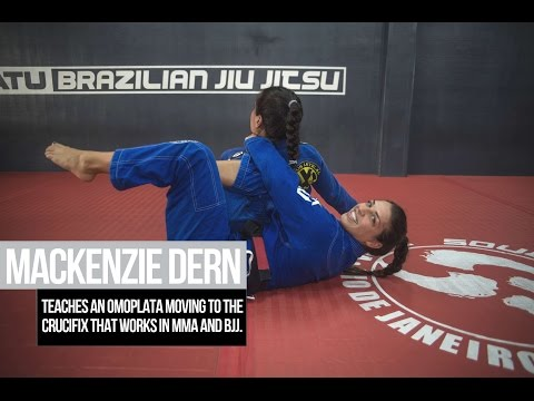 Mackenzie Dern teaches an omoplata moving to the crucifix that works in MMA and BJJ