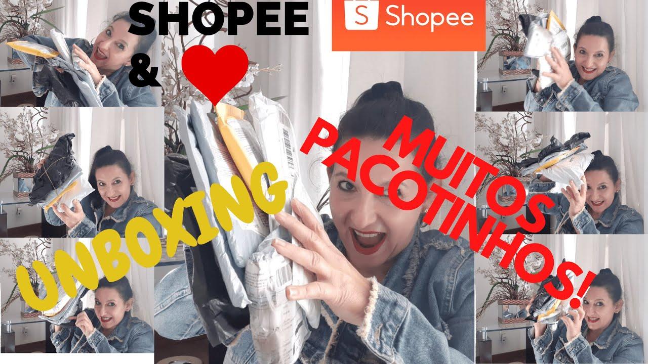 SHOPEE/MUITOS PACOTINHOS/UNBOXING