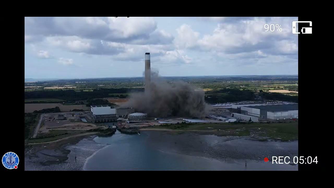Fawley Power Plant Demolition
