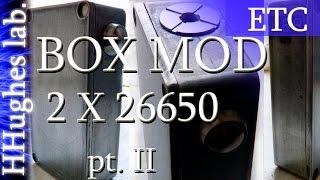 Самодельный БоксМод 2часть 2x26650 SubOhm/220+Watt, HiVolt (Custom Box Mod 2x26650)
