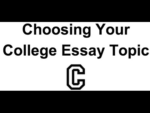 Choosing Your College Essay Topic by Thinking About Your Goals: Brainstorming