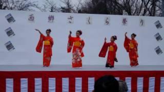 さくら祭りの舞踊ですが、でもまだ桜咲きそうもないけど子供達頑張って...
