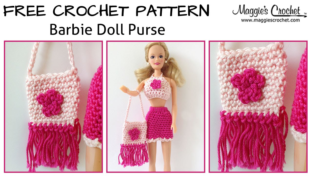 Doll Purse Free Crochet Pattern - Right Handed - YouTube