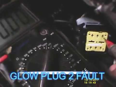 Peugeot 407 Fault P1351 Pre/post heating relay circuit - YouTube