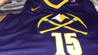 Баскетбольная джерси Nike NBA Denver Nuggets №15 Nikola Jokic dark blue магазин Basket Family