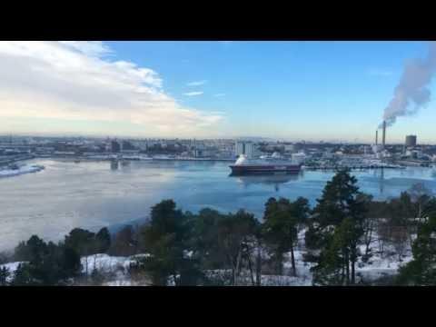 M/S Isabelle docking at Stockholm Värtahamnen port (Time Lapse)