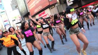 BRUKWINE Flash Mob in Times Square NYC