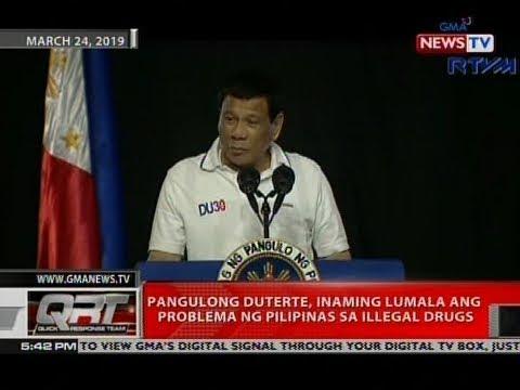 QRT: Pang. Duterte, inaming lumala ang problema ng Pilipinas sa illegal drugs