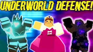 WE ATTEMPTED TO DO THE UNDERWORLD WAVE DEFENSES.. (ROBLOX DUNGEON QUEST)