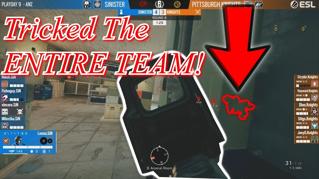 PL Team Sinister *BAITS* Enemy To ATTACK A FAKE OBJ SITE!!? | R6S Pro League Highlights