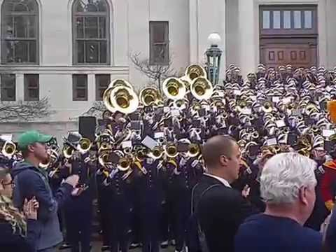 Notre Dame Victory March Concert on the Steps Miami 2016