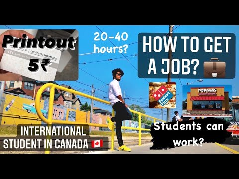 HOW TO GET PART TIME JOBS IN CANADA | DOCUMENTS REQUIRED | INTERNATIONAL STUDENT IN CANADA | ENGLISH