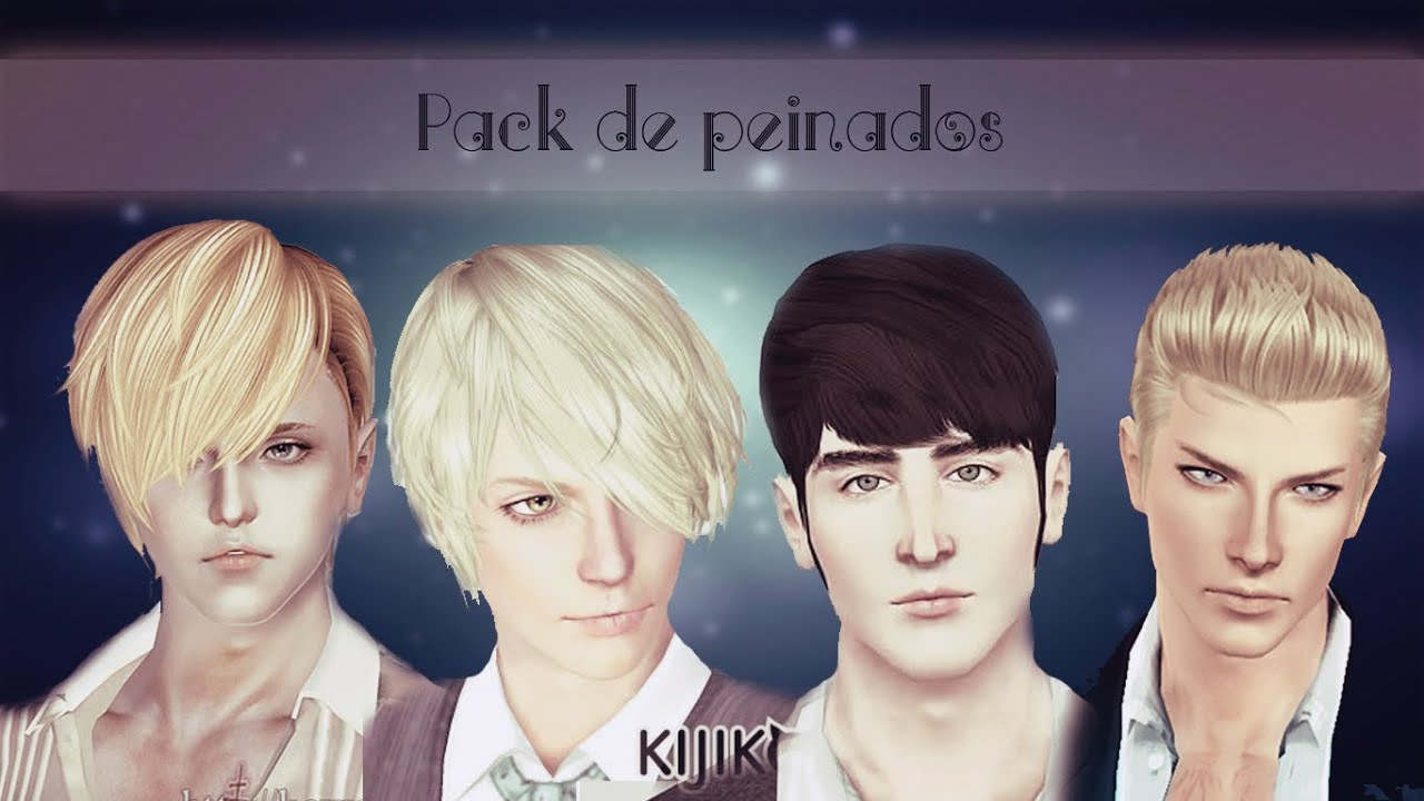 Pack de peinados para hombre 1 sims 3 youtube - Peinados d hombre ...