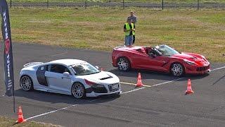 Audi R8 Prior Design GT650 vs Chevrolet Corvette C7 Prior Design