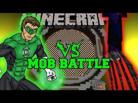 KRAKEN VS GREEN LANTERN - Minecraft Mod Battle - Mob Battles - Superheroes And Kraken Mods