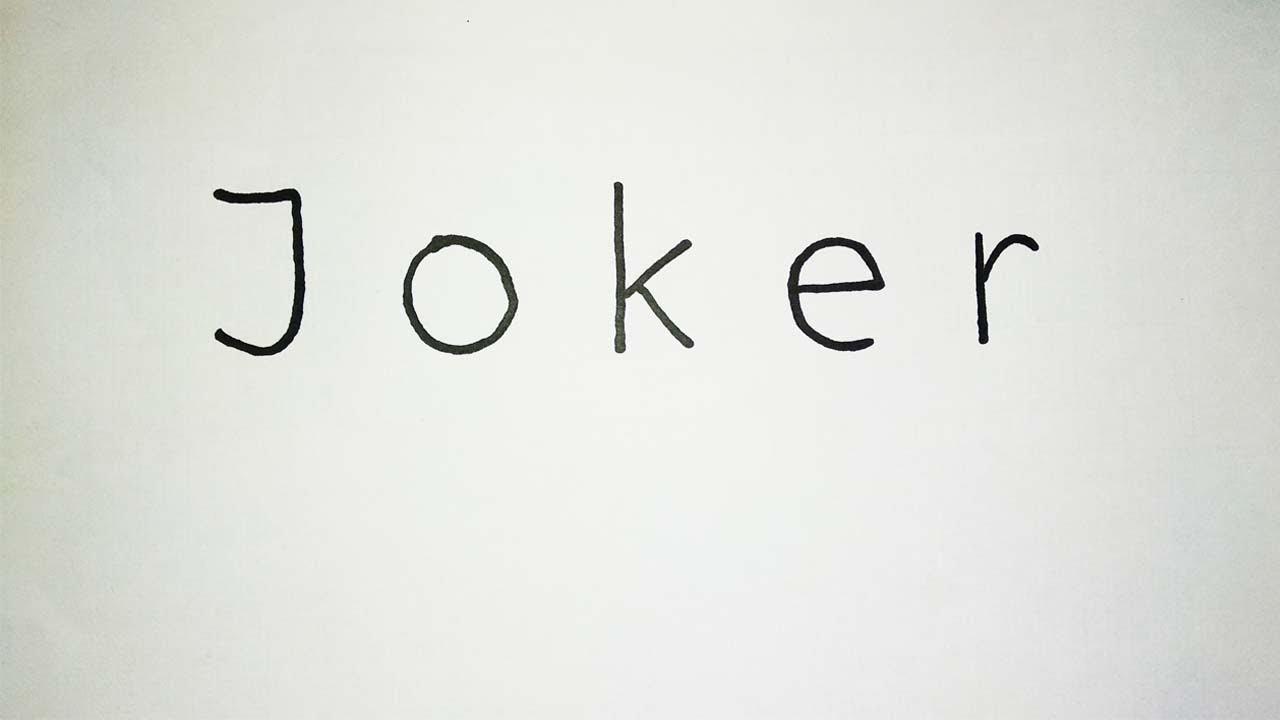 Cara Menggambar Joker Dari Kata Joker Youtube