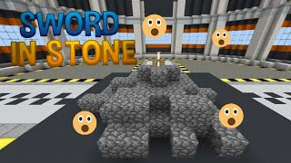 How to make a sword in the stone trick in mcpe/sword in the stone trick