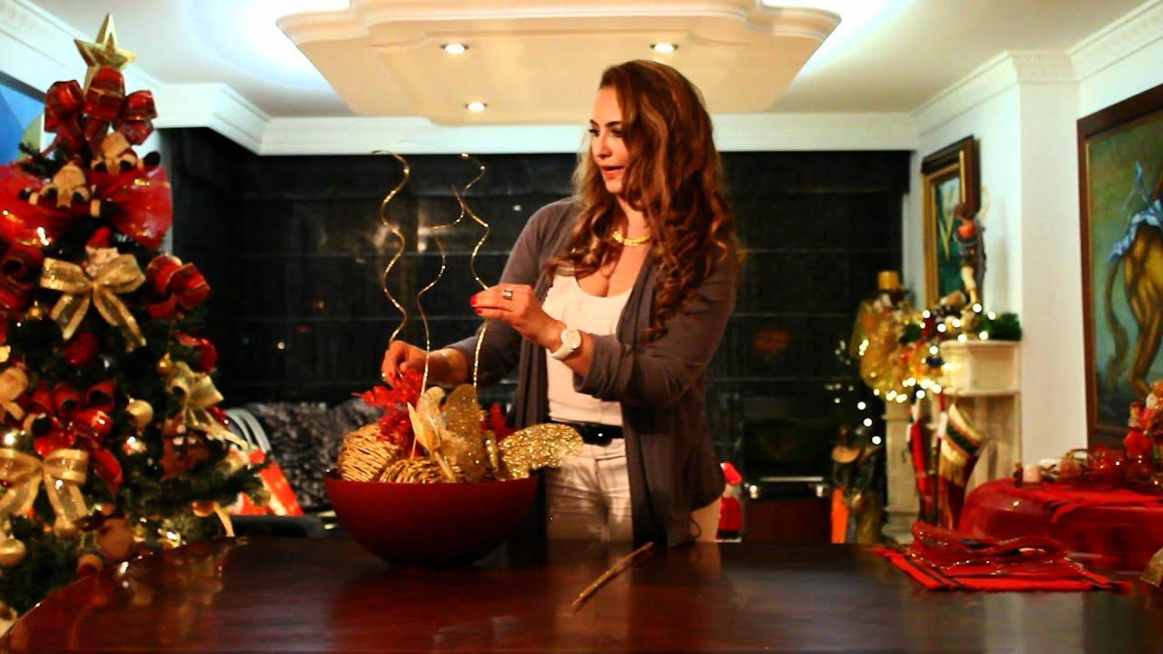 Marcela estrada tv decora la mesa para navidad youtube - Decoracion de navidad para oficina ...