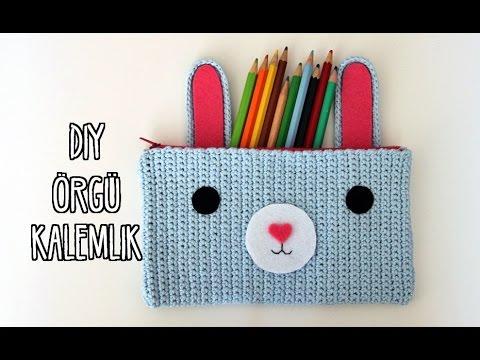 Kendin Yap Örgü Kalemlik / Dıy Crochet Pencil Case