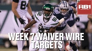 Fantasy Football Waiver Wire Targets (Week 7) | Jamison Crowder, Chase Edmunds & more