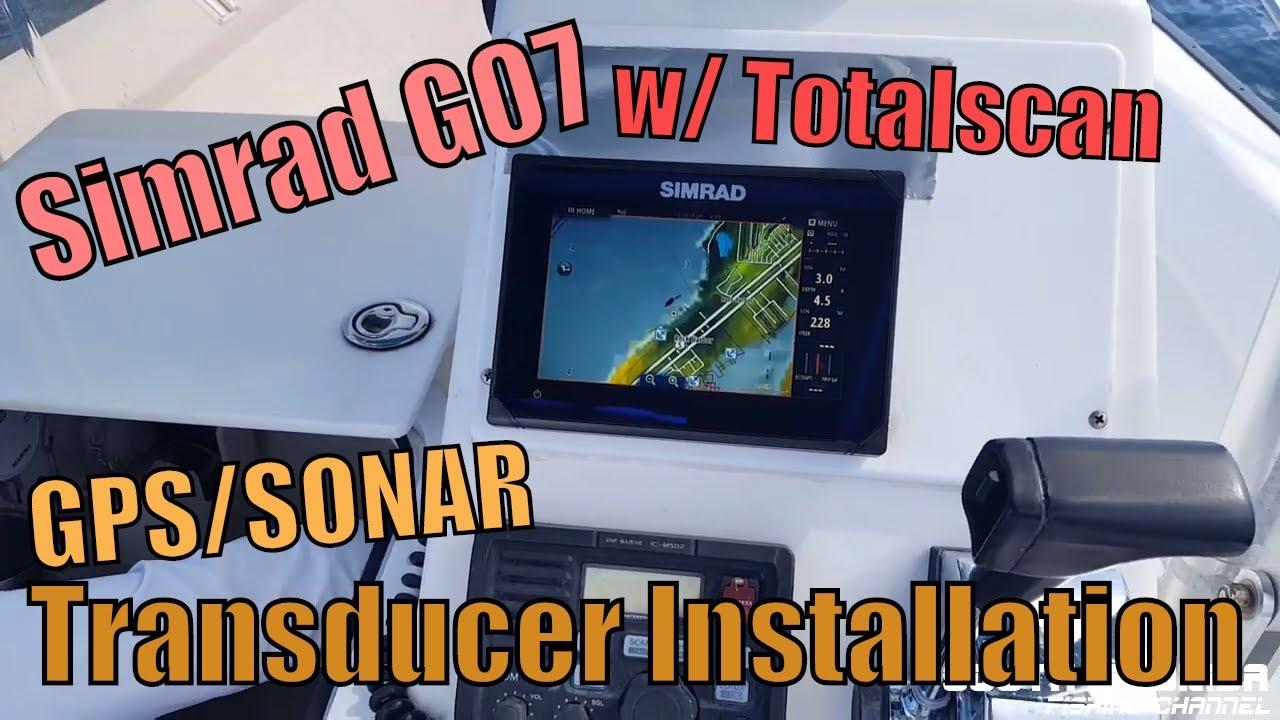GPS/Sonar Totalscan Transducer Installation (Simrad GO7 XSE Fish Finder)