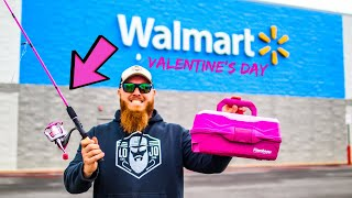 Valentine's Day Gear ONLY Fishing Challenge (Rod, Reel, Line, Lures)