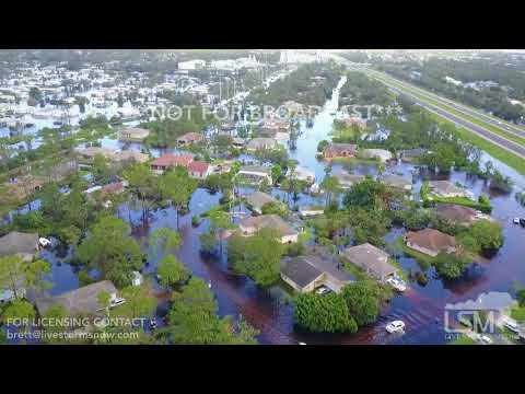 9-11-2017 Bonita Springs, Fl Hurricane Irma  significant flooding aerial drone and damage
