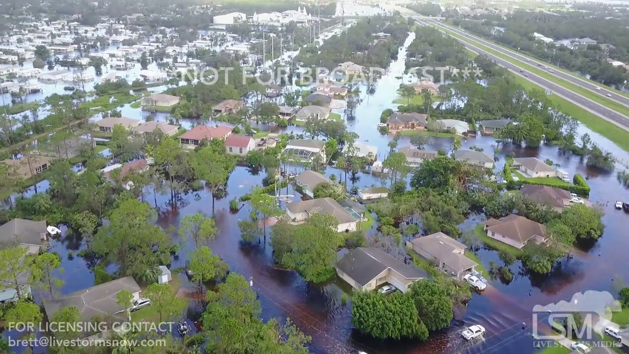 9 11 2017 Bonita Springs Fl Hurricane Irma Significant Flooding Aerial Drone And Damage Youtube