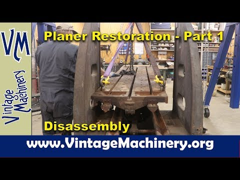 New Haven Metal Planer Restoration - Part 1: Disassembling the Monster!