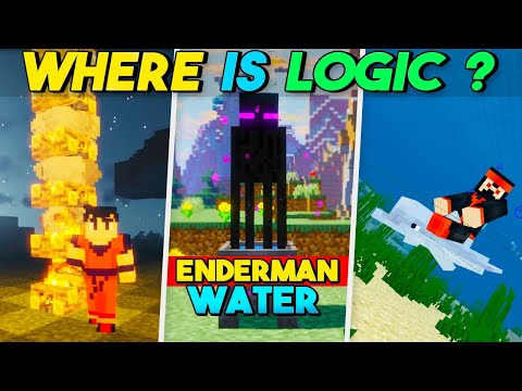 Illogical Things In Minecraft That Don't Make Any Sense 😂   Minecraft Hindi # 2