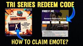 25 April Redeem Code Free Fire   Freefire New Redeem Code Telugu  Tri Series Redeem Code   In Telugu