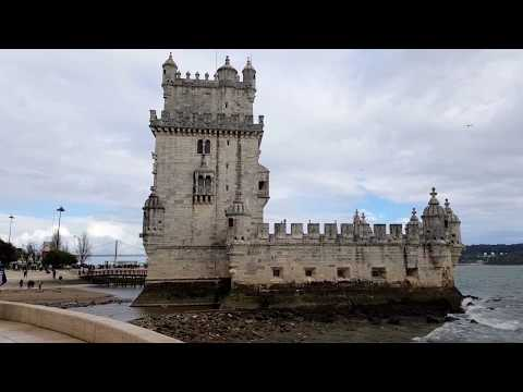 Lisbon, Portugal : The beautiful Gothic Tower of Belem (Torre de Belem, Tour de Belém)