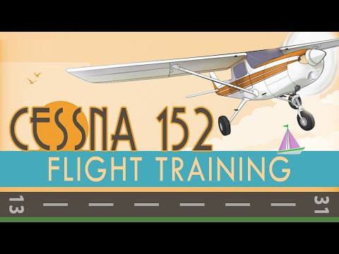 Cessna 152 Flight Training (startup, takeoff, landing, traffic pattern)