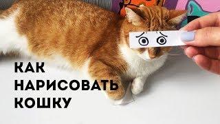 Как нарисовать кошку. Веселый урок рисования для детей!