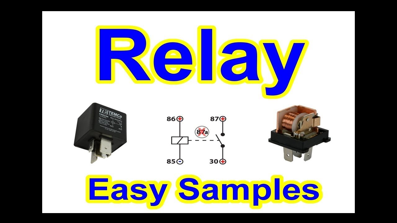 DIY - Relay EASY Step by Step Electrical Wiring + Fan Example - Very ...