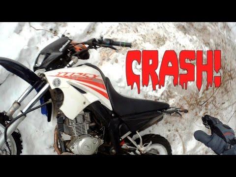 Zimní enduro na vysočině Yamaha XT 125X