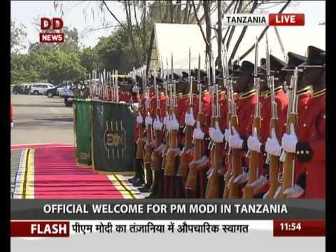 Official Welcome for PM Modi in Tanzania