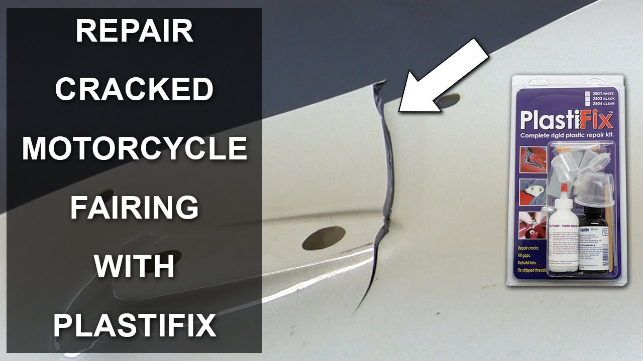 Abs Plastic Repair Kit >> Repair Cracked And Broken Motorcycle Fairing With Plastifix Youtube