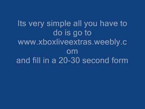 FREE 12 MONTH XBOX LIVE SUBSCRIPTION CODE