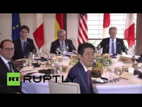 Japan: G7 leaders take breakfast with EU's Tusk and Juncker as summit kicks off