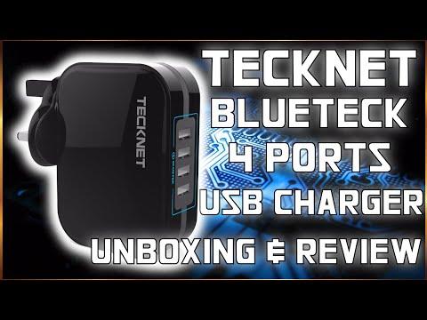Teknet Bluetek 4 Ports USB Charger Unboxing and Review