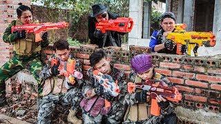 LTT Nerf War : Police Patrol SEAL X Warriors Nerf Guns Fight Crime Group Dr Lee Bandits Nerf New