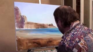 Игорь Сахаров  Уроки живописи  Морской пейзаж с чайкой оригинал