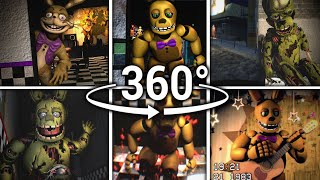 Скачать 360 Sprintrap Spring Bonnie Compilation Five Nights At Freddy S SFM VR Compatible