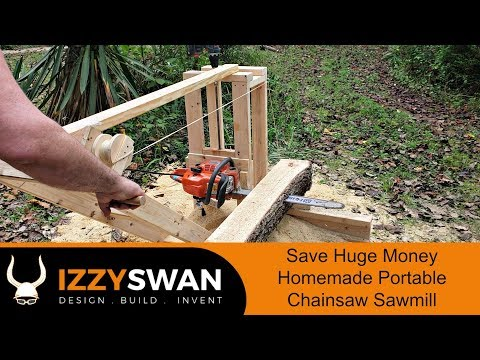 50 Dollar Portable Sawmill | Chainsaw Mill