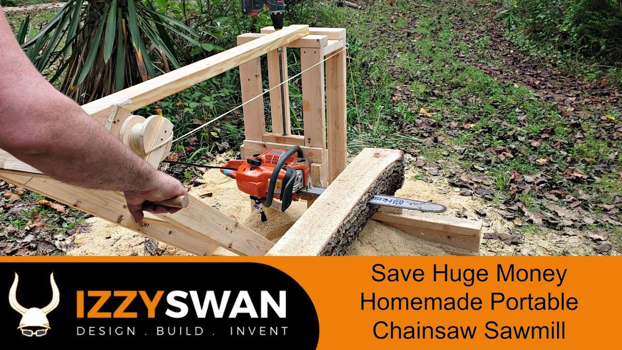 Saw Mill For Sale >> 50 Dollar Portable Sawmill | Chainsaw Mill - YouTube