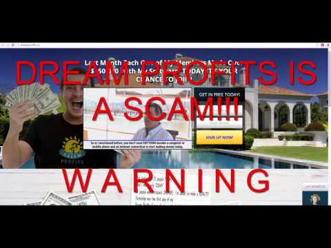 Dream Profits Scam Warning